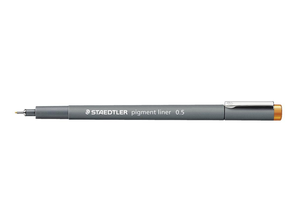 STAEDTLER pigment liner - Feutre fin - 0.5 mm - orange