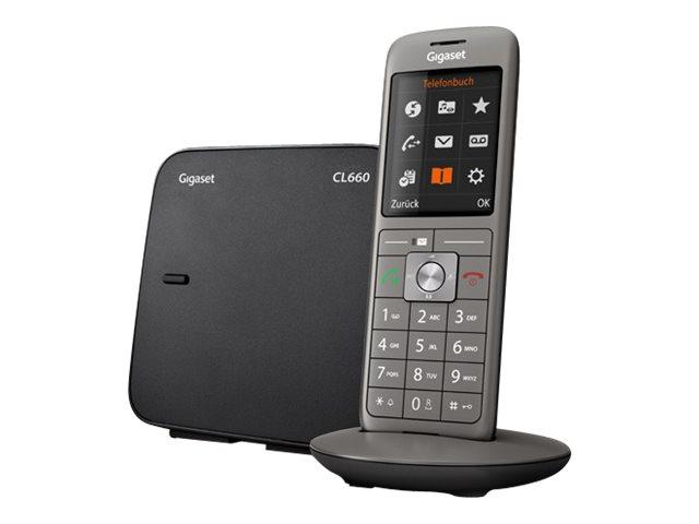 Gigaset CL660 - téléphone sans fil - anthracite
