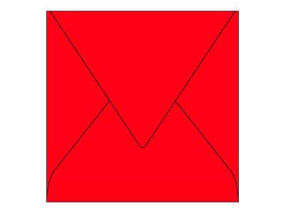 Pollen - 20 Enveloppes - 140 x 140 mm - 120 g/m² - rouge groseille