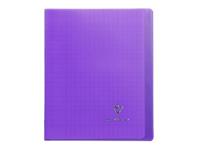 Clairefontaine Koverbook - Cahier polypro 17 x 22 cm - 96 pages - grands carreaux (Seyes) - violet