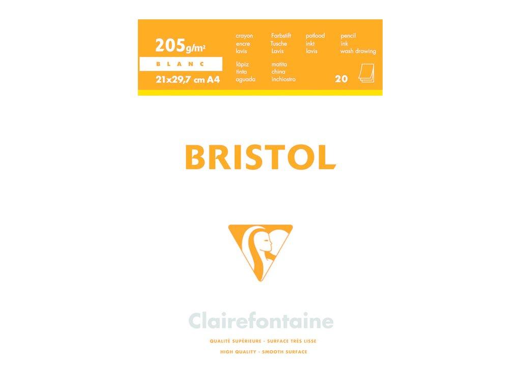 Clairefontaine - Bloc dessin - 20 feuilles - A3 - 205 gr - blanc