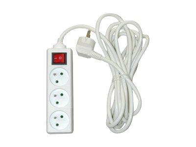 Safetool B7503.03 - Multiprise avec interrupteur 3 prises - 4m