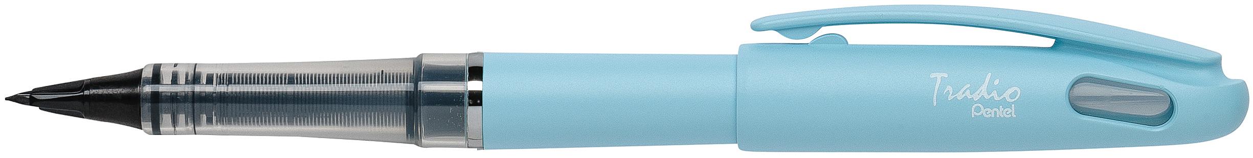 Pentel Tradio Pastel - Feutre plume - corps bleu