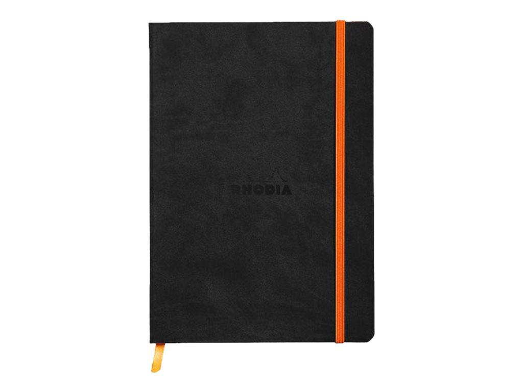 Rhodia Rhodiarama - Carnet souple A5 - 160 pages - pointillés - noir