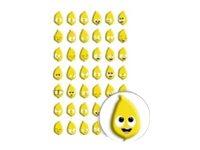 Maildor - 1 feuille gommettes émoji citron