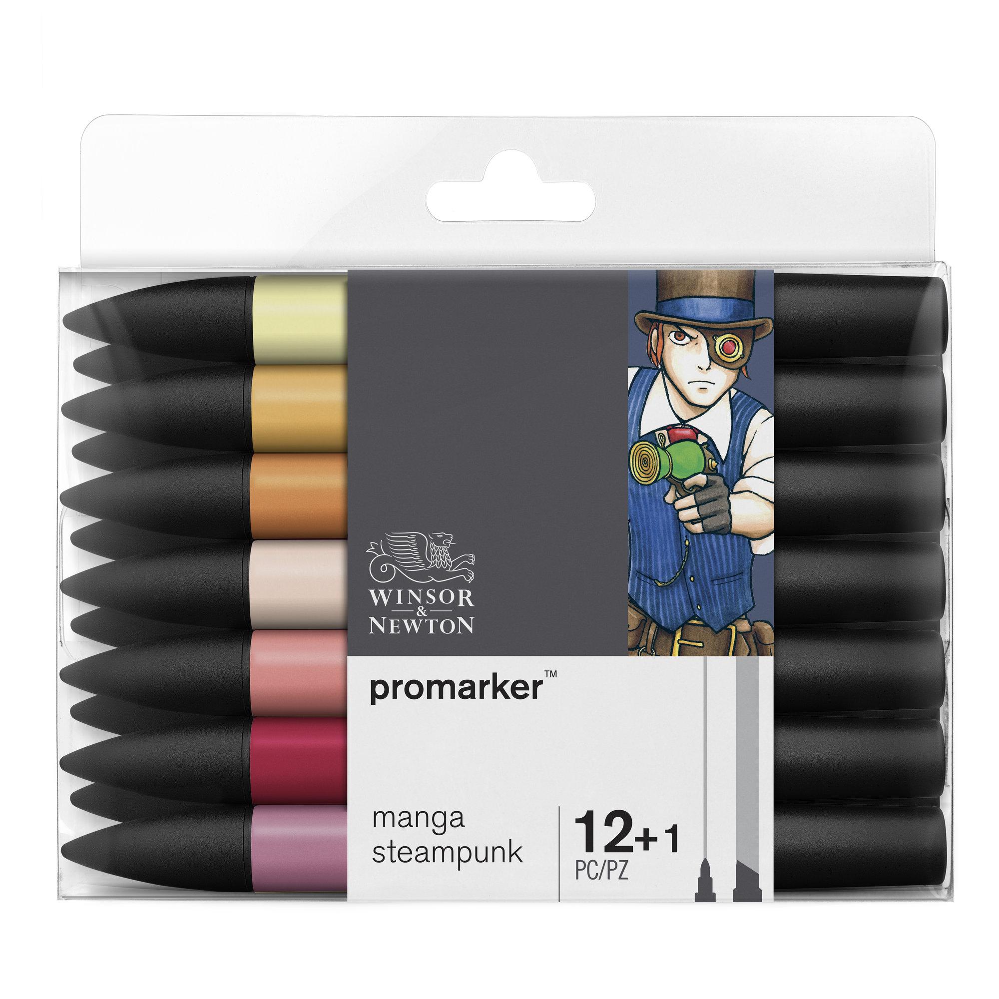 ProMarker - Pack de 13 - marqueurs double pointe - manga steampunk