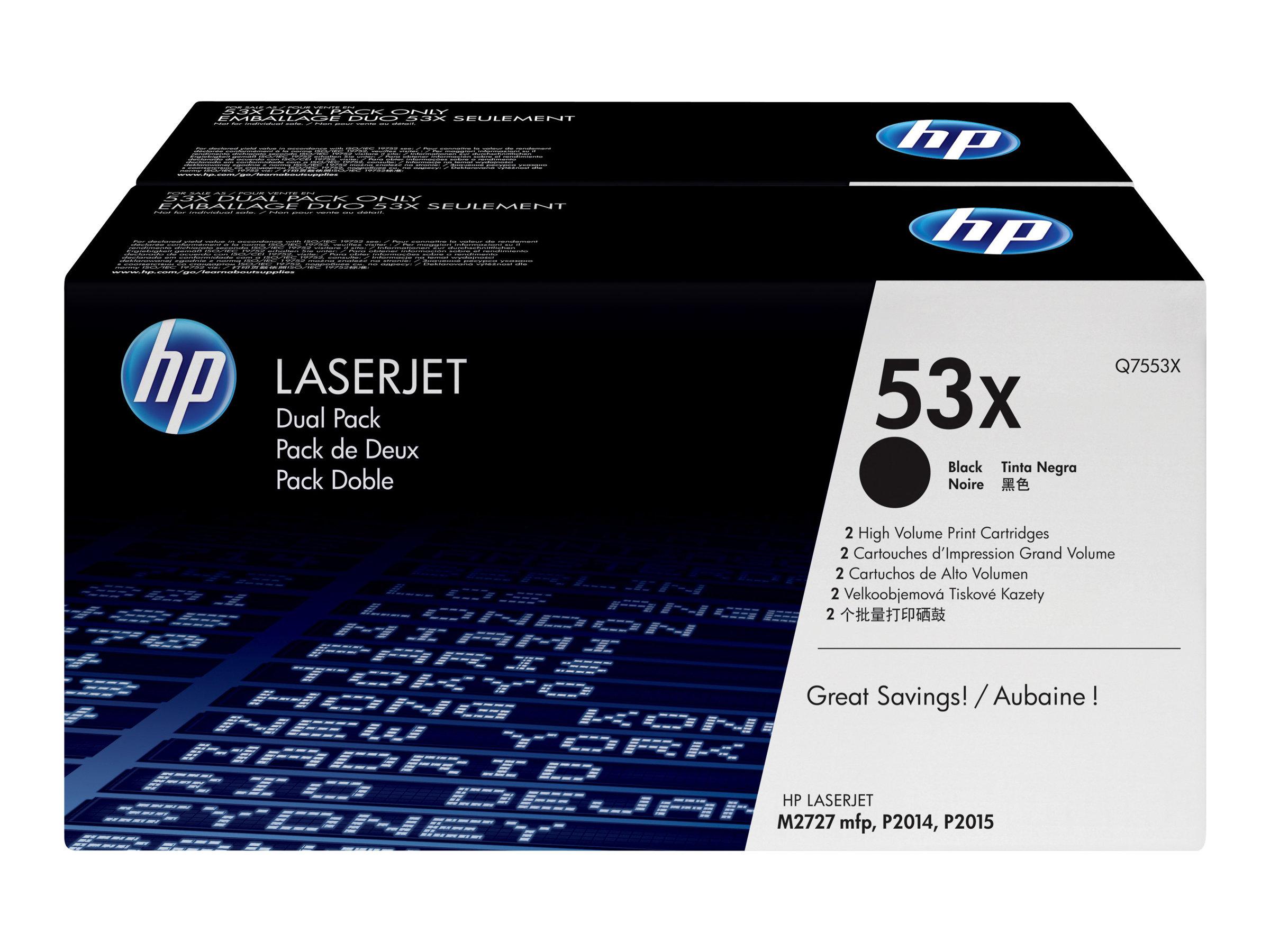 HP 53X - Pack de 2 - noir - cartouche laser d'origine