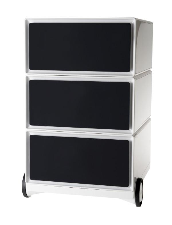 Caisson de bureau mobile EASYBOX - 3 tiroirs - Noir