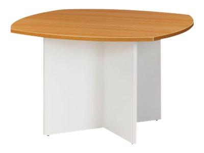Table de réunion - SUNDAY - Cotés arrondis - L 115 x H 74 x P 115 cm - Noyer