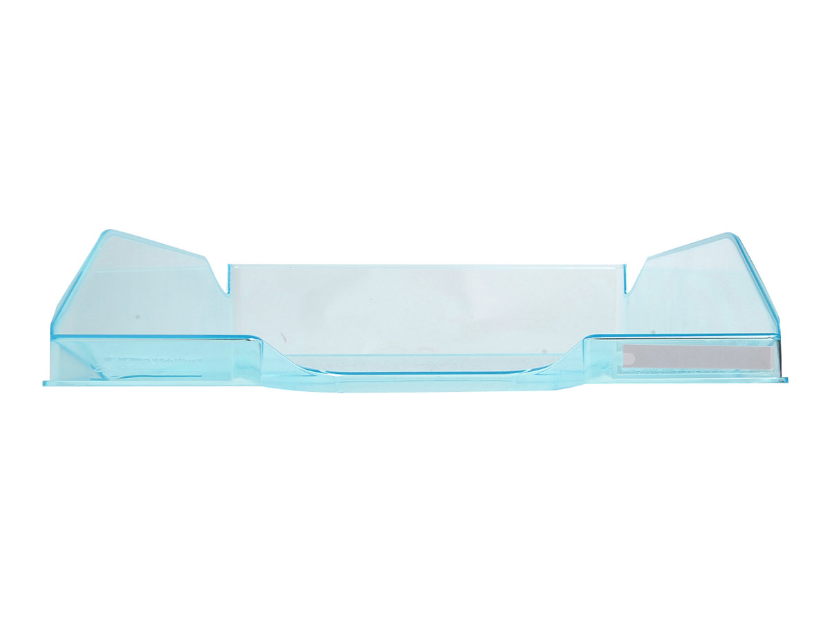 Exacompta COMBO Glossy - Corbeille à courrier turquoise translucide