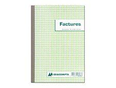 Exacompta - Manifold Carnet de factures avec TVA - 50 dupli - A5