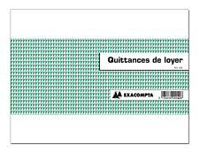 Exacompta - Manifold Carnet de quittances de loyer - 10,1 x 16,5 cm