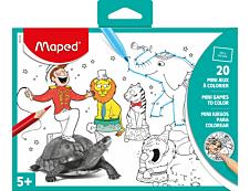 Maped - Mini jeux à colorier - 20 feuilles