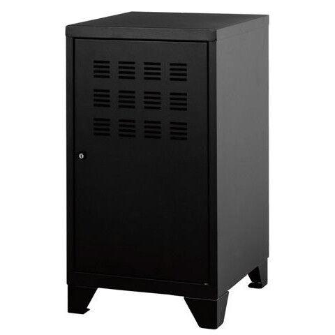 Casier de bureau avec pieds - 57,5 x 40 x 40 cm - noir