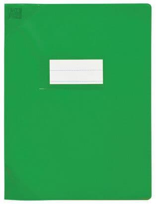 Oxford Strong Line - Protège cahier sans rabat - 17 x 22 cm - vert opaque