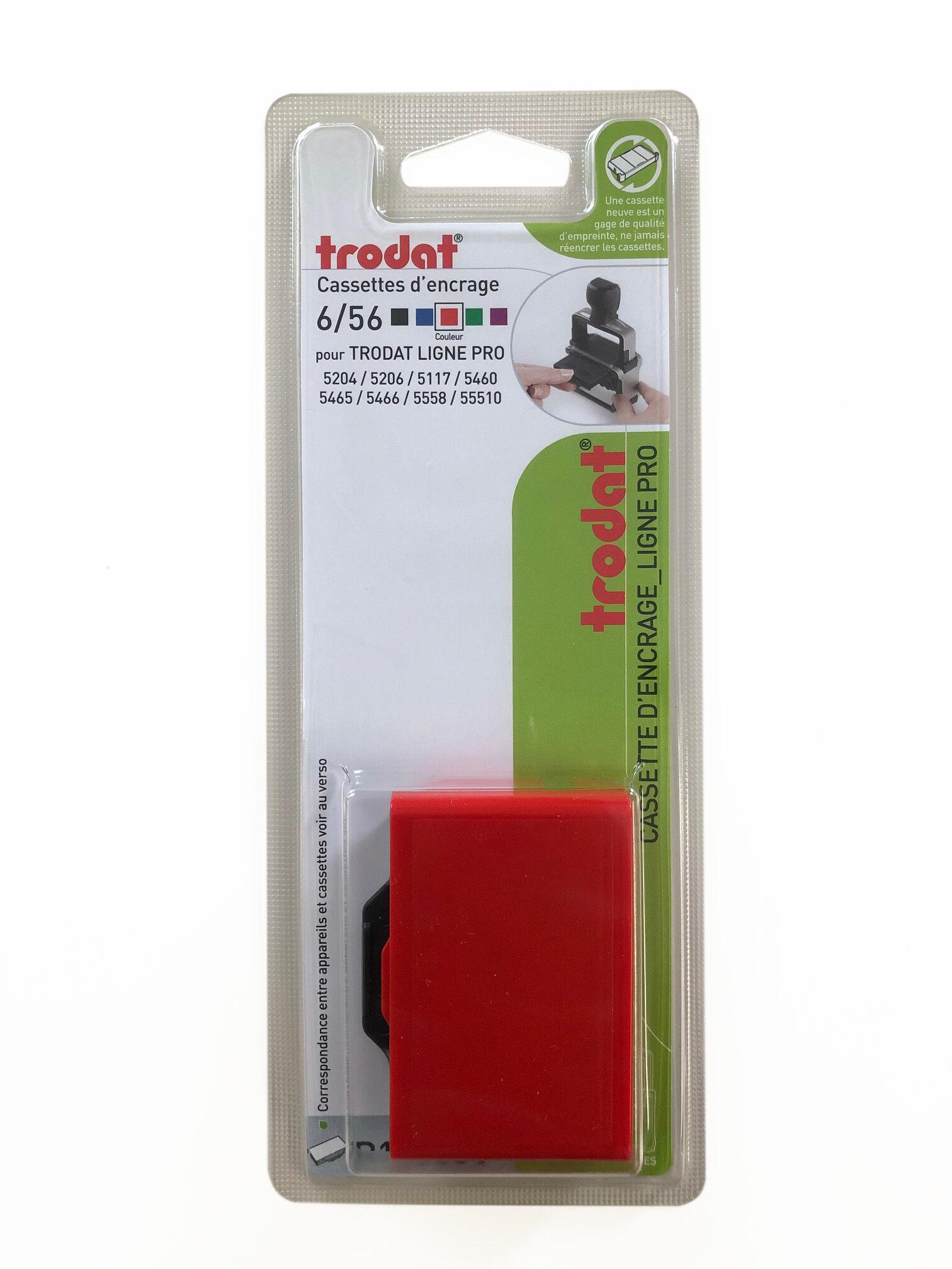 Trodat - Encrier 6/56 recharge pour tampon 5117/5204/5460 - rouge
