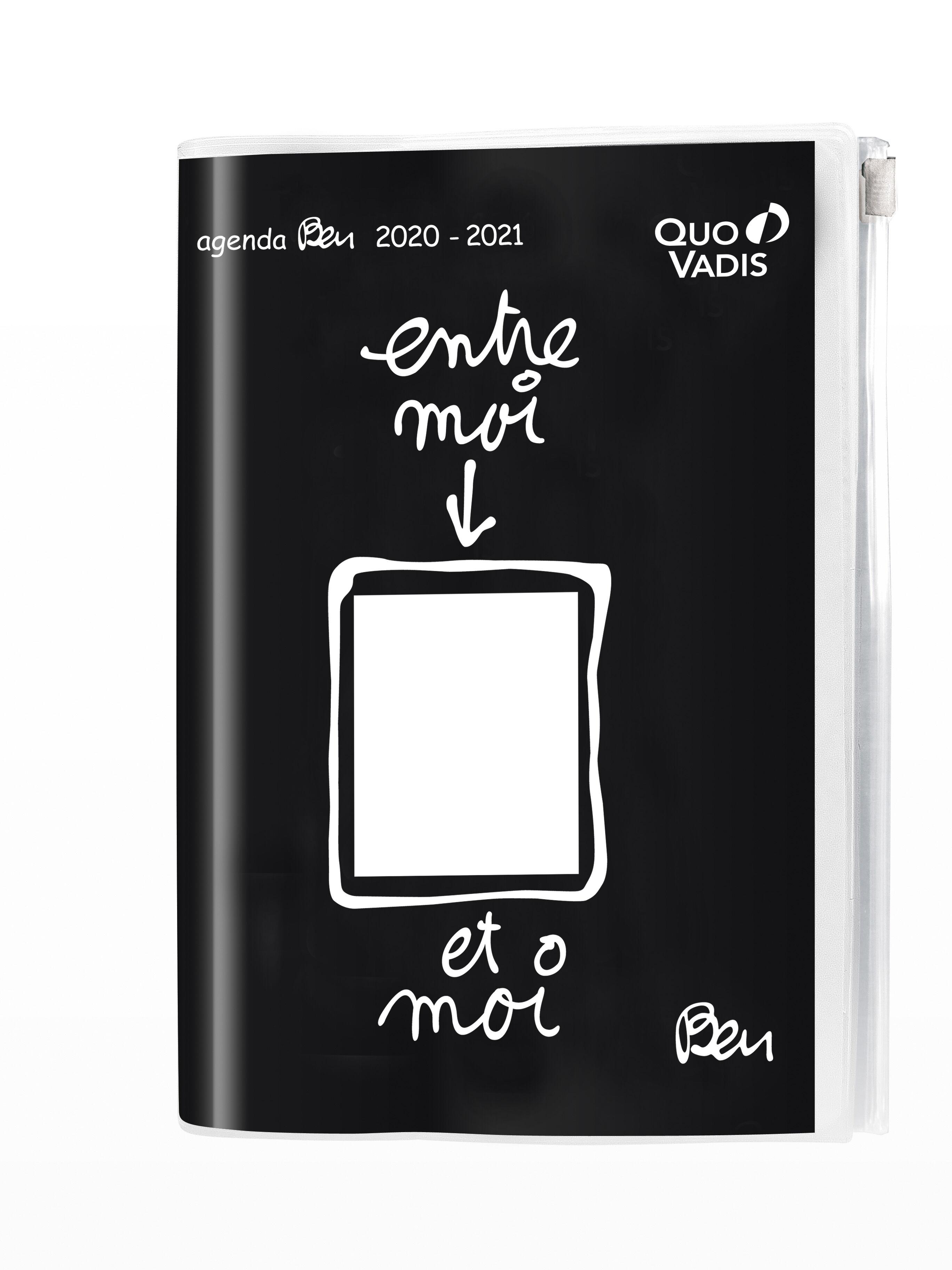 Ben - Agenda avec poche zip - 1 jour par page - 12 x 17 cm - différents modèles disponibles - Quo Vadis