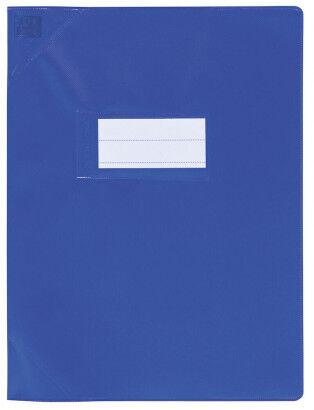 Oxford Strong Line - Protège cahier sans rabat - 24 x 32 cm - bleu opaque
