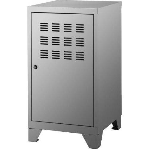 Casier de bureau avec pieds - 74 x 40 x 40 cm - aluminium