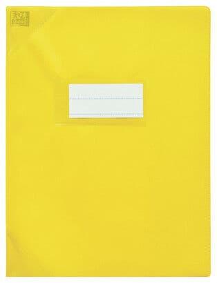 Oxford Strong Line - Protège cahier sans rabat - 24 x 32 cm - jaune opaque