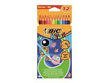 BIC KiDS ecolutions EVOLUTION - 12 Crayons de couleur - couleurs vives assorties
