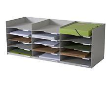 Bloc de classement 15 cases (24x32cm) - PAPERFLOW - 85 x 7 cm - Gris