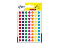 Avery - 420 Pastilles couleurs assorties - Diametre  8mm