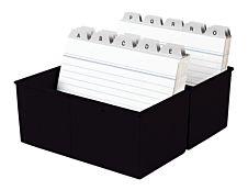 HAN - Boîte à fiches - A6 - pour 300 cartes - noir