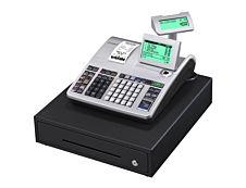 Casio SE-S400 - Caisse enregistreuse - 3000 PLU - Tiroir : 8 pièces et 4 billets - Noir/argent - certifié loi fiscale 2018.