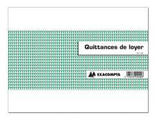 Exacompta - Manifold de quittances de loyer - 50 feuilles - 101 x 165 mm - paysage
