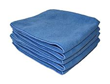 De Witte Tricot Soft - 5 Chiffons nettoyants - microfibre - bleu