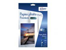 Avery - 15 Feuilles de Papier Photo Premium 250g/m² A4 - Impression Jet d'encre - Brillant