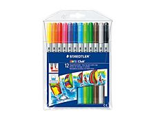 STAEDTLER Noris Club 320 - 12 Feutres - Double pointe