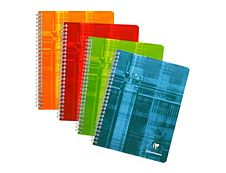 Clairefontaine - Cahier spiral - 17 x22 cm - 180 pages - Grands carreaux