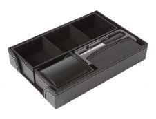 Oberthur CLASSIQUE ORIGINE - Jeu d'accessoires de bureau - noir lézard