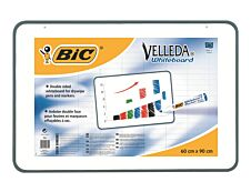 BIC Velleda - Ardoise blanche - 600 x 900 mm - double face - blanc