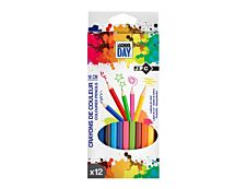 JPC - 12 Crayon de couleurs - couleurs assorties