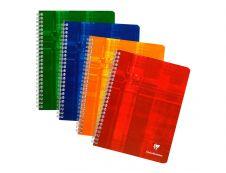 Clairefontaine - Cahier spiral - 17 x 22 cm - 100 pages - Petits carreaux - disponible dans différentes couleurs