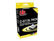 Canon CLI-571XL/PGI-570XL - remanufacturé UPrint C.570/571XL - Pack de 5 - 2BK+C+M+Y - cartouche d'encre