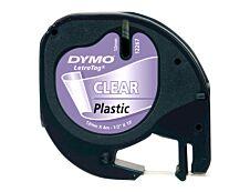 Dymo LetraTAG - Ruban plastique - transparent - Rouleau (1,2 cm x 4 m)
