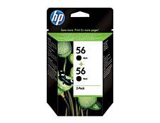 HP 56 - Pack de 2 - noir - original - cartouche d'encre