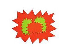 Apli Agipa - 10 éclatés fluo -120 x 160 mm - jaune fluorescent. orange fluorescent