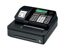 Casio SE-S100 - Caisse enregistreuse - 2000 PLU - certifié loi fiscale 2018 - Tiroir : 5 pièces et 3 billets - noir