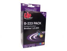 Brother LC223 - compatible Uprint B.223 - Pack de 5 - 2BK+C+M+Y - cartouche d'encre