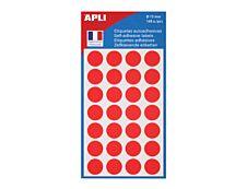 APLI PAPER - Étiquettes adhésives permanentes - 168 étiquettes - Rouge