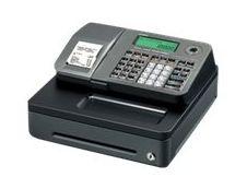 Casio SE-S100 - caisse enregistreuse - certifié loi fiscale 2018 - Tiroir : 5 pièces et 3 billets - argenté