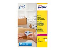 Avery - 15 Étiquettes blanches - 199,6 x 289,1mm - Impression Laser