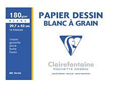 ClairefontaineDessin à Grain - Papier à dessin - A3 - 180 Gr - 10 feuilles
