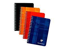 Clairefontaine - Carnet spirale - 9 x 14 cm - 100 pages - Petits carreaux - couvertures aux couleurs assorties