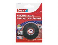 Tesa - Ruban de fixation double face extérieur - 1,5m x 19mm